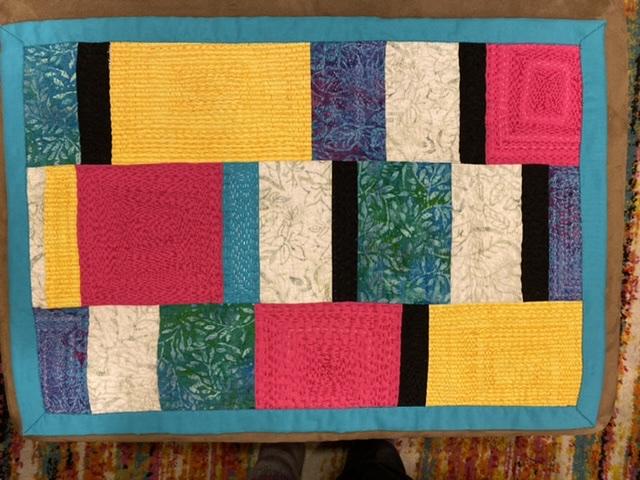 Quilt slow stitching